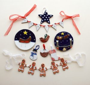 ceramic Christmas products by Banwell Pottery