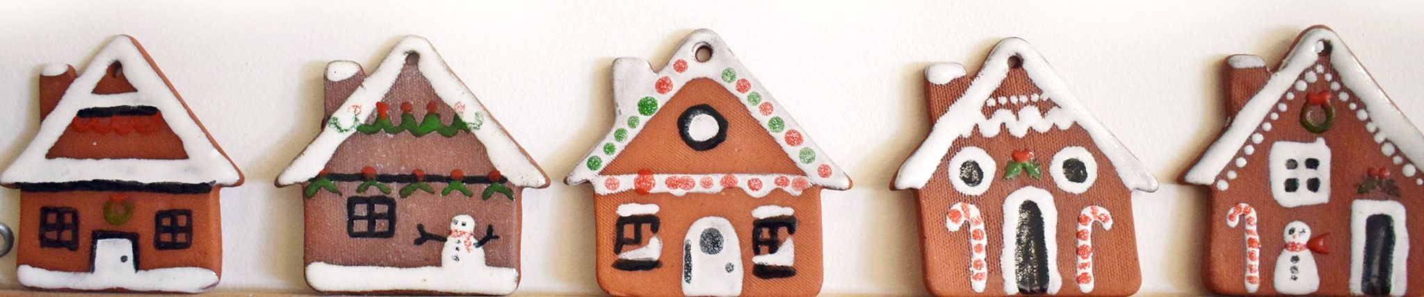 gingerbread house hanging decorations