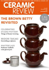 Ceramic Review magazine front cover
